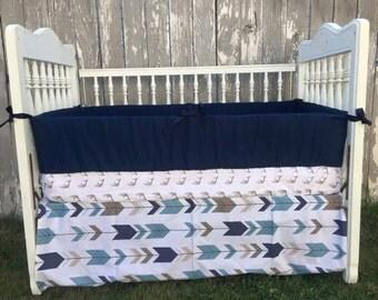 Custom Crib Bedding/Antler/Deer Bedding/Arrow Bedding/Custom Baby Bedding/Crib Set/Baby Crib Bedding