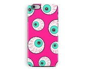 Bumper iPhone 5 Case Protective iPhone Case Halloween iPhone case Goth iphone case Pink Phone Googly Eyes Phone case Halloween Costume