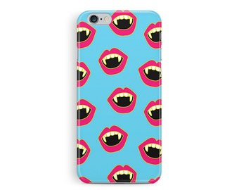 Vampire iphone 6 case, Halloween Phone Case, gothic phone case, iphone 6 cover, Fangs iPhone case, True Blood phone case, Zombie iPhone case