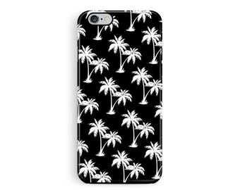 Palm tree Phone case, iPhone 6 Protective Case, Protective iPhone 5 Case, iPhone 6 Cover, Bumper iPhone case, Monochrome iphone 6 cover