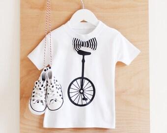 Unicycle children's t-shirt - White