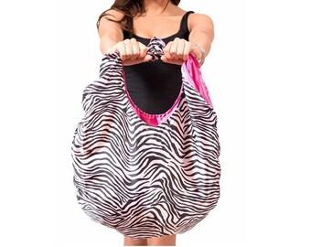 Flirty Zebra - Chic Foldup Tote