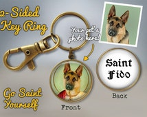 Saint Your Pet Key Ring - Custom Saint Key Ring - Pet Worship - Saint Yourself Keychain - Pet Photo Keychain