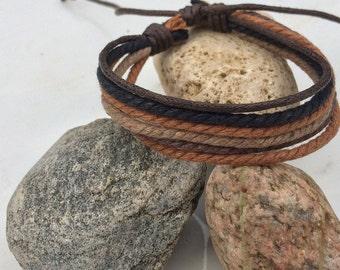 Handmade Unisex Hemp Bracelet Multi Color Wrap Wrist Braclet HB-6