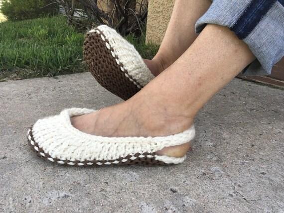 Slingback Slippers -- a loom knit pattern