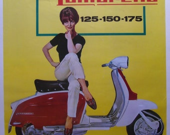 Original c.1965 Lambretta Advertising Poster