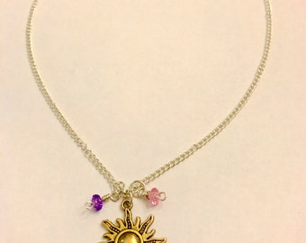 Tangled Rapunzel Inspired Charm Necklace