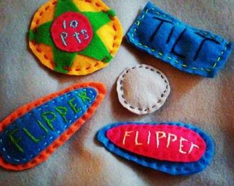Pinball-Themed Catnip Toys (set of 5)
