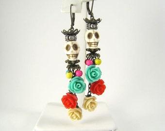 Day of the Dead Earrings, Dia de los Muertos Earrings