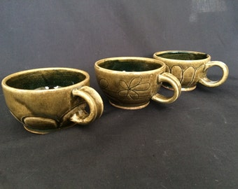 A set of assorted cups