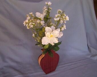 Vase-Wooden Vase-Flower Vase-Purpleheart Vase-Gifts For Her-Small Wooden Vase