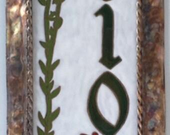 Succulent address tile