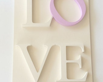 LOVE Wood Sign, Home Decor Wood Sign, Love Word Sign