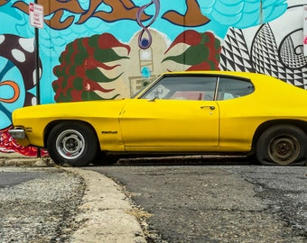 Car Photograph, Garage Decor, Car Art, Classic Car Photo, Vintage Car, Wall Decor, Car Decor, Wall Art, Street Art, Americana, Philly