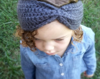 Crochet Toddler Ear Warmers- Neutral Colors - 12 months to 4T