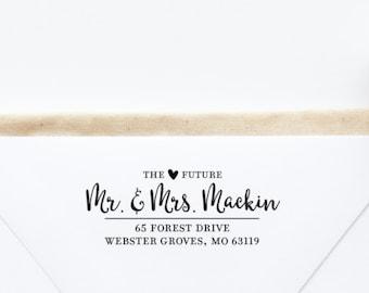 Return Address Stamp, Self-Inking Address Stamp, Personalized Address Stamp - Custom Address Stamp Style No. 123