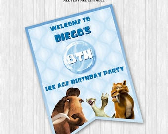 Ice Age Welcome Sign