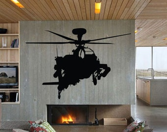 Vinyl Wall Decal Sticker Military Helicopter Airplane