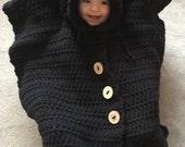Car Seat Cover Poncho - Crochet Pattern