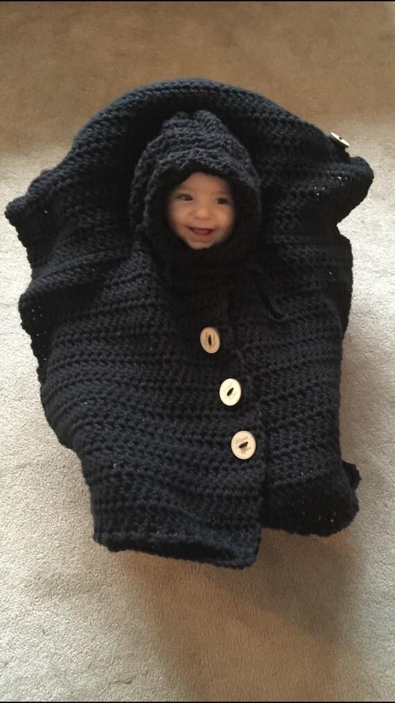 Car Seat Cover Poncho Crochet Pattern