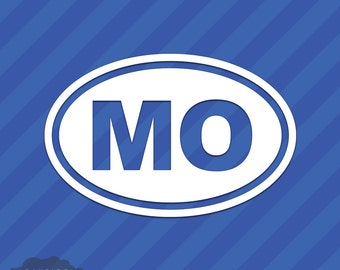 Missouri MO Oval Vinyl Decal Sticker