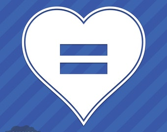 Equal Rights Heart Vinyl Decal Sticker Marriage Equal Sign LGBT