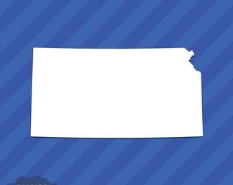 Kansas KS State Outline Vinyl Decal Sticker