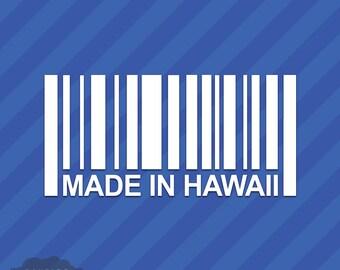 Made In Hawaii HI Barcode Vinyl Decal Sticker