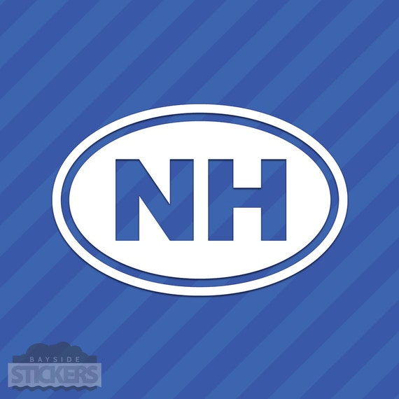 New hampshire nh oval vinyl decal sticker from