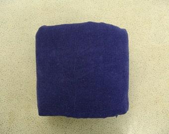 1.4 yds blue corduroy vintage fabric navy
