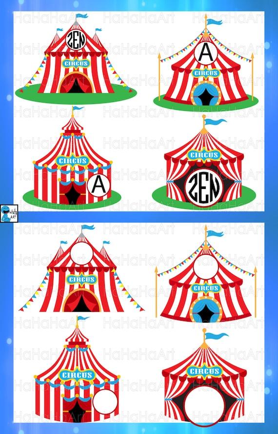 Circle Circus Tent Cutting Files Svg Png Jpg Eps Digital