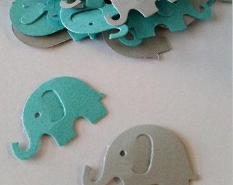 Elephant Baby Shower, Baby Shower Decoration, Elephant Confetti,  Baby Elephant, Aqua and Gray Elephant Baby Shower Decoration
