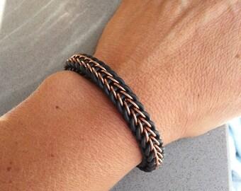 Full Persian Rubber Aluminium Bracelet
