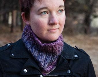 Purple Knit Neckwarmer