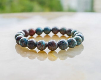 Blue Calsilica Bracelet,Unisex Beaded Bracelet,Blue Bracelet,Gemstone Bracelet,Beaded Jewelry,Blue Jewelry
