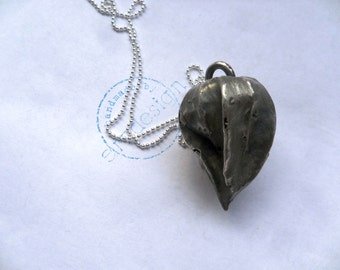Silver necklace 925 Silver necklace Lantern fruit of Physalis, 60 cm length