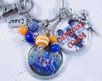 PERSONALIZED CHEER COACH, Cheer coach Gift, Gift for Cheer coach, Cheerleader Gift, Cheerleading, Cheerleader Jewelry, Cheerleading Jewelry