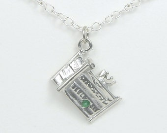 Once Upon A Mattress inspired Princess and the Pea Necklace Pewter - Cast, Crew, Director and Fan of Musical Theater Gift - Handmade in USA