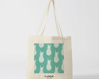 X81Y Tote bag pineapple bag fruit bag, shopping bag, purse, diaper bag, shopping bag, bag, bag, nature, animals