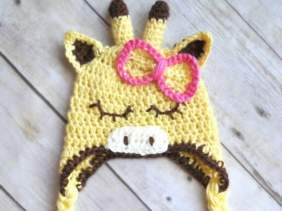 Crochet Pattern Giraffe Hat : Crochet Flower Giraffe Hat