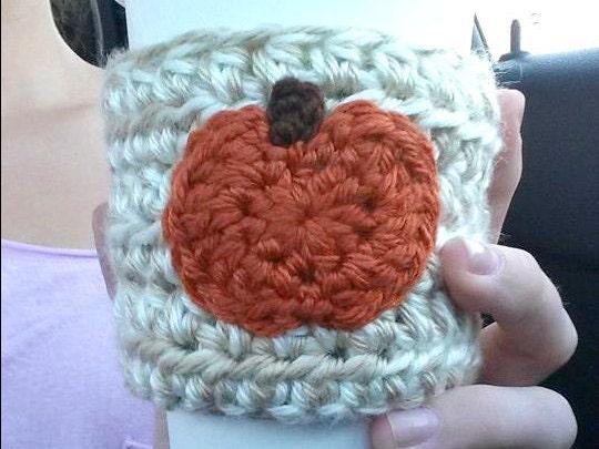 SALECrochet Pumpkin Coffee Sleeve Cozy Cozie