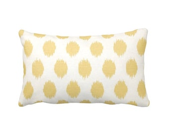 7 Sizes Available: Ikat Pillow Cover Yellow Pillow Cover Yellow Throw Pillow Cover Decorative Pillows Yellow Accent Pillow Lumbar Pillows