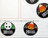 Halloween Countdown Planner Stickers for Erin Condren Planner, Filofax, Plum Paper