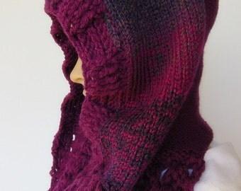 Last One Wool Hood Infinity Scarf