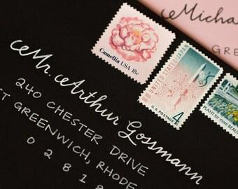 Wedding Envelope Calligraphy | Envelope Addressing | Handwritten Envelope Addressing | Handwritten Calligraphy - Chelsea Style