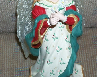"Reduced: Hallmark Keepsake Christmas Ornament - ""Angel Song"" in Original Box- sculpted and signed by LaDene Votruba"