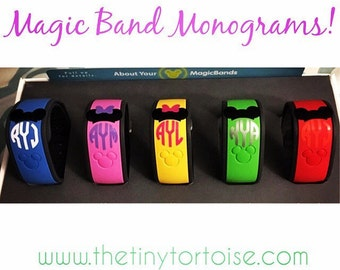 Disney Magic Band Monogram Decal
