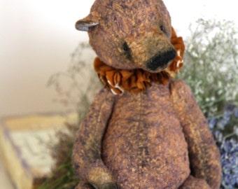 Pattern  Teddy Bear BROWN   24-25 cm. Artist Pattern. stuffed animals-stuffed bear-artist teddy bear- pattern teddy bears