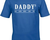 personalised fathers day gift Daddy T Shirt With kids Names Custom dad T Shirt fathers day gift fathers day