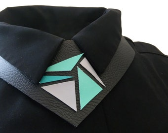 SALE Geometric collar necklace, original accessory, statement accessory, bow tie alternative, statement necklace, unique accessory